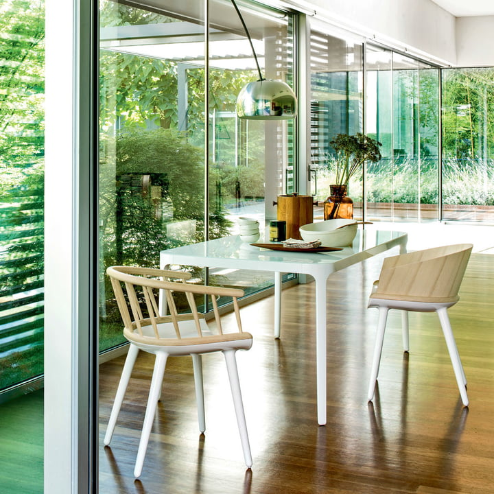 Esszimmerstühle mit Holzlehne