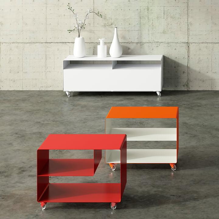 Müller Möbelfabrikation - RW 109 Sideboard, verkehrsweiss