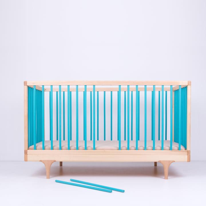 Babybett Caravan Crib mit Schlupfstäben