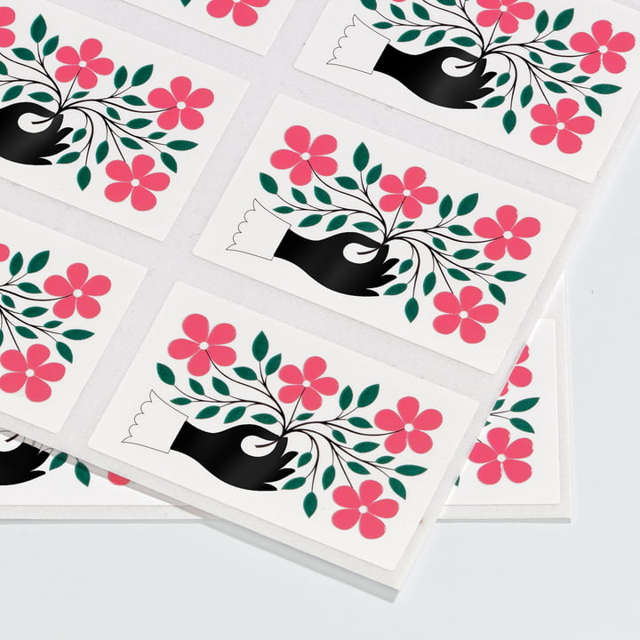 Sticker Hand von Vitra in Grün und Pink