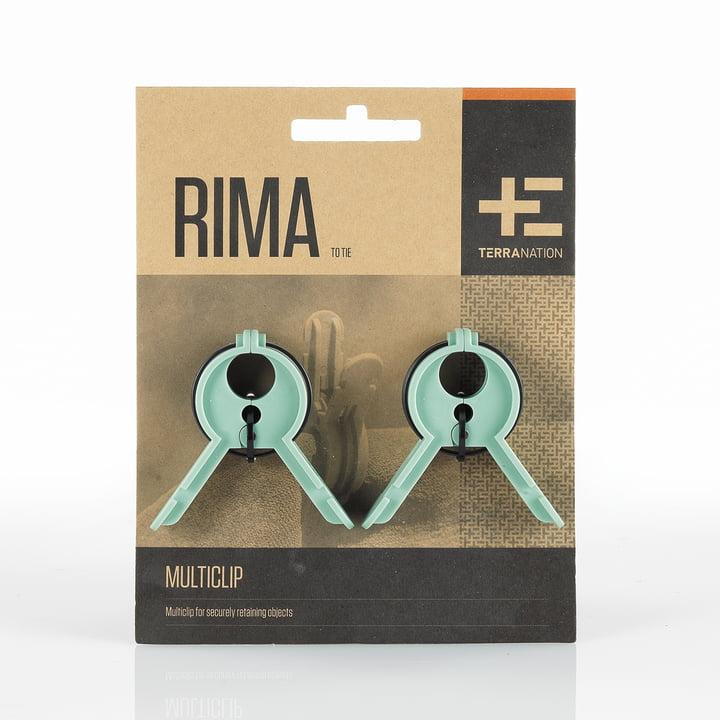 Rima Multiclip von Terra Nation in Grün mit Verpackung