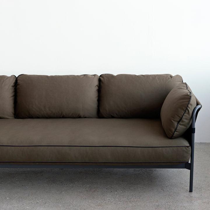 Hay - Can Sofa, 3-Sitzer, grau / Canvas army / Canvas army