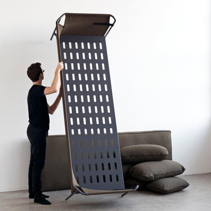 Hay - Can Sofa, 3-Sitzer, schwarz / Canvas army / Canvas army