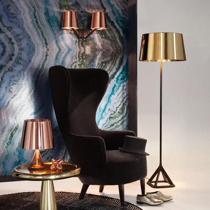 Base Kollektion von Tom Dixon mit Wingback Sessel