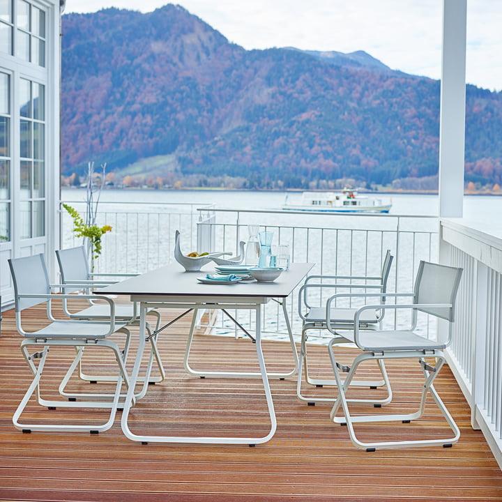 Ahoi Tisch und Sessel aus wetterfestem Material