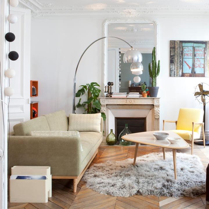Wohnzimmer der 50er Jahre