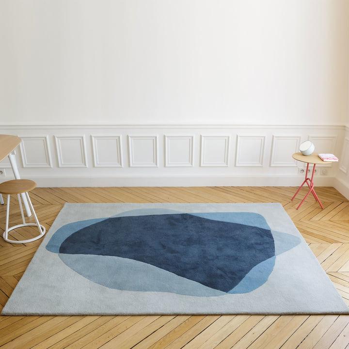 Serge Teppich in Blau- und Grautönen