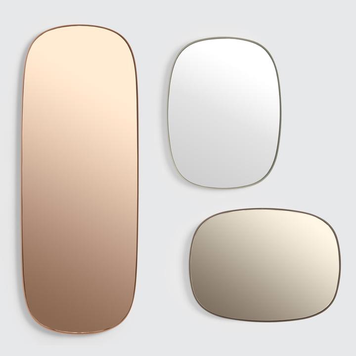 Der Framed Mirror von Muuto in gross, rosa / klein, taupe / klein, grau