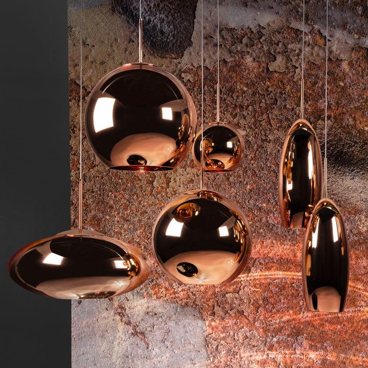 copper wide pendelleuchte von tom dixon. Black Bedroom Furniture Sets. Home Design Ideas