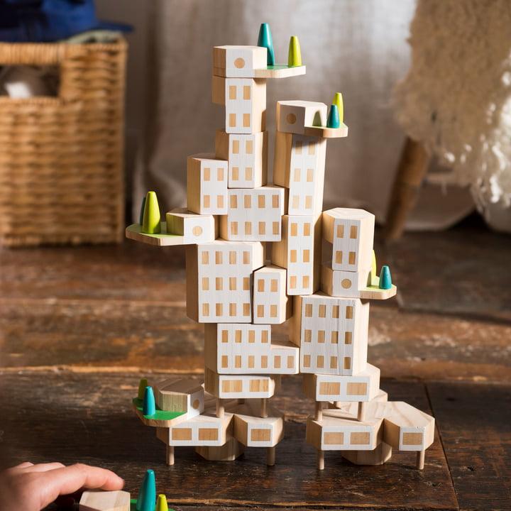 Blockitecture Spielzeug Holz-Architektur Garden City von Areaware