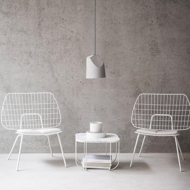 Cage Table und WM String Lounge Chair von Menu