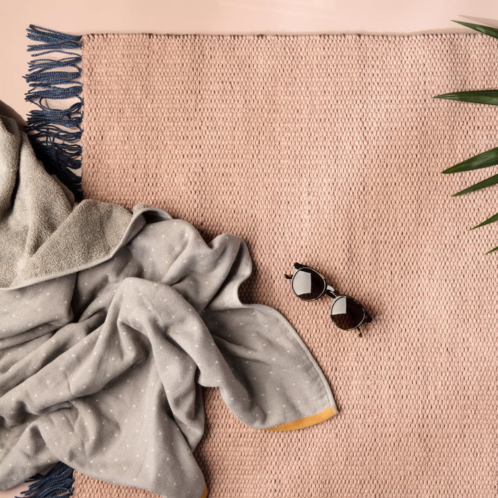 ferm Living - Nomad Teppich, rose