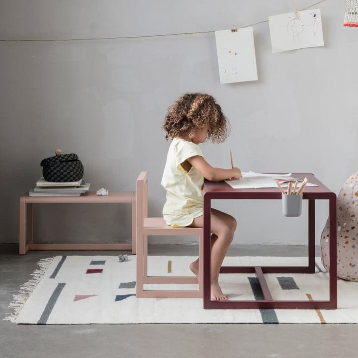 Little Architect Stuhl, Tisch und Bank von ferm Living