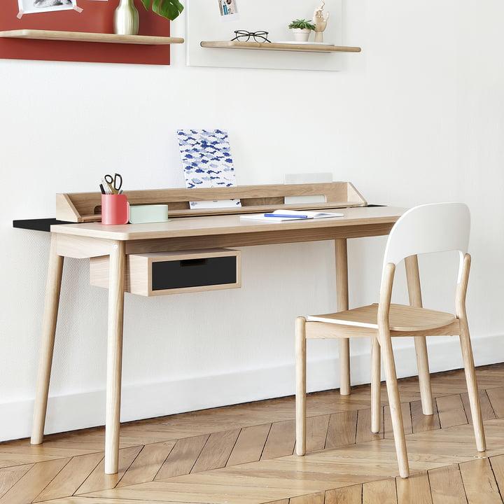 Honoré Schreibtisch von Hartô in Anthrazitgrau (RAL 7016)