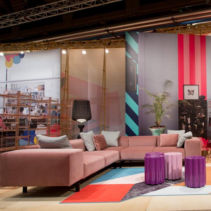 Kartell - Largo Velluto 2-Sitzer Sofa