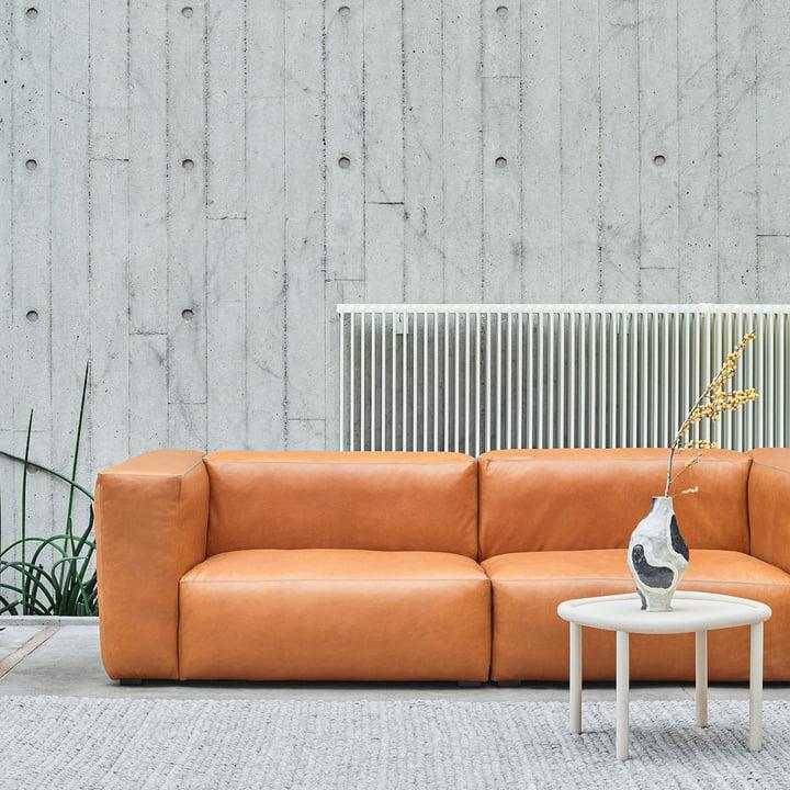 Das Hay - Mags Soft Sofa 2,5-Sitzer in Leder Sil0250 Cognac