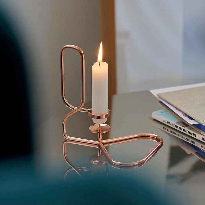 Der Hay - Lup Kerzenhalter in Kupfer, dreieckig