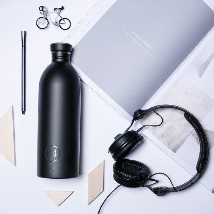24Bottles - Urban Bottle 1.0 L, schwarz