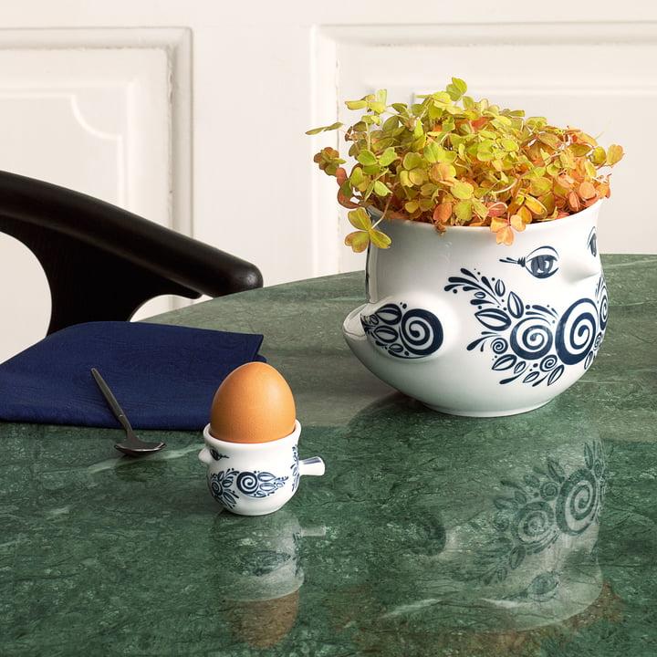 Übertopf und Eierbecher Vögel von Bjørn Wiinblad
