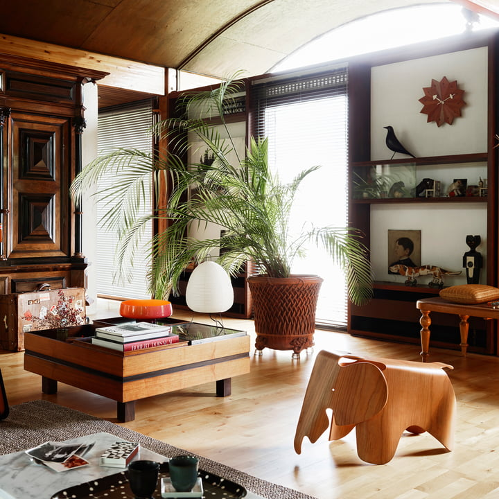Nelson Fan Wanduhr, Eames Elephant und Eames House Bird von Vitra