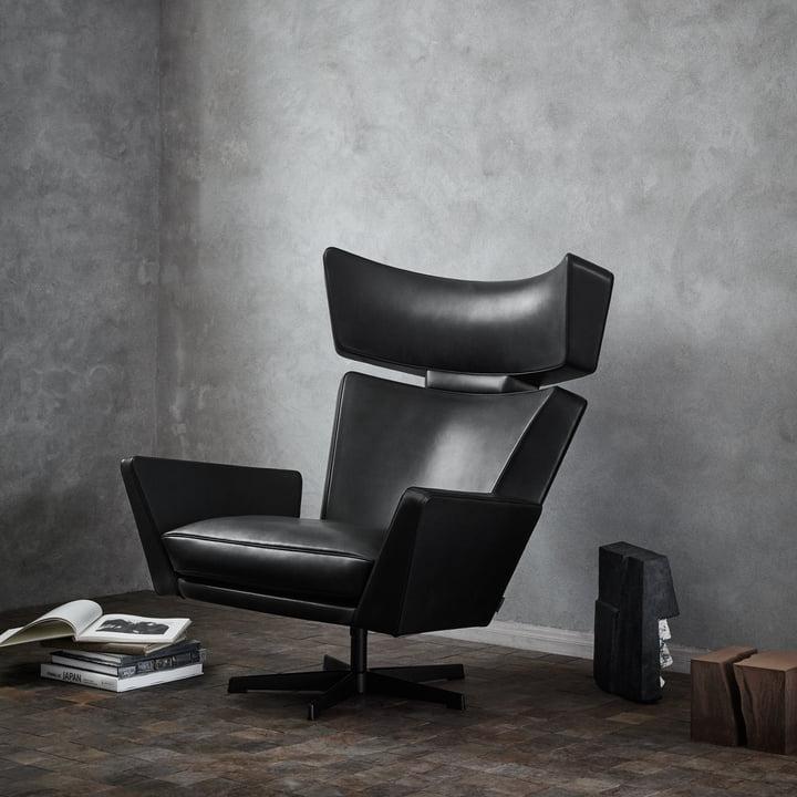 oksen leder sessel fritz hansen. Black Bedroom Furniture Sets. Home Design Ideas