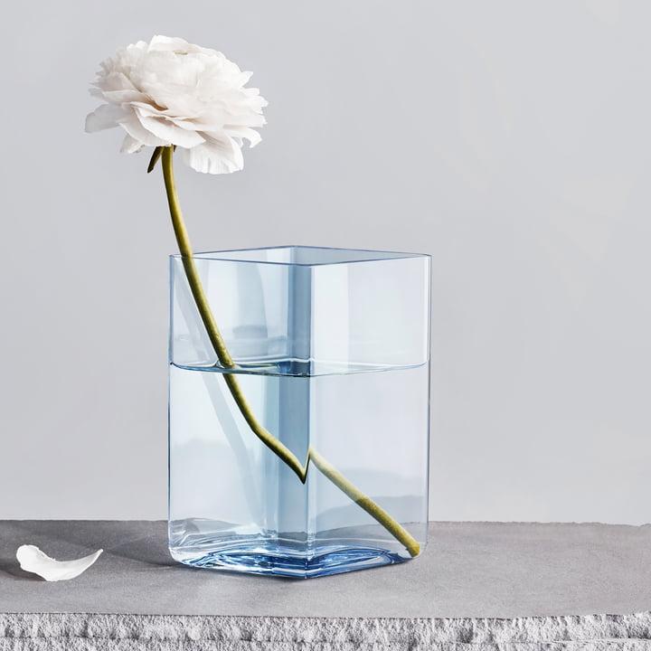 Ruutu Vase 115 x 140 mm von Iittala in Aqua