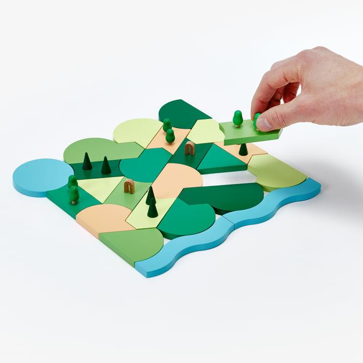 Blockitecture Spielzeug Holz-Architektur Parkland von Areaware