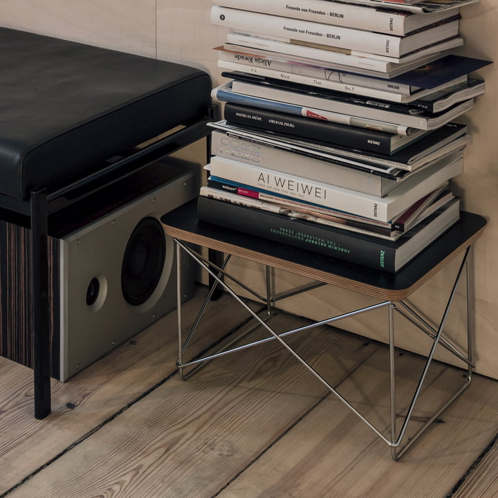 Vitra - Eames Occasional Table LTR, HPL schwarz / chrom