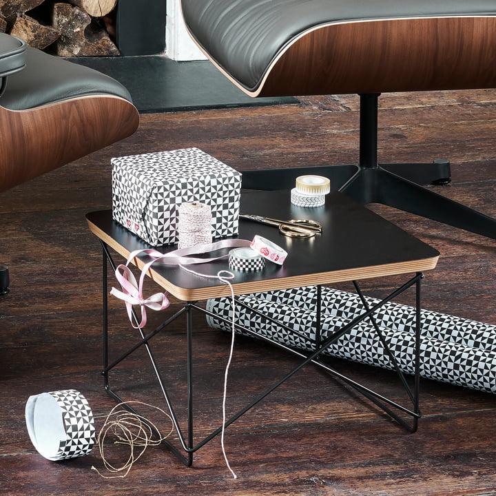 Vitra - Eames Occasional Table LTR, HPL schwarz / basic dark