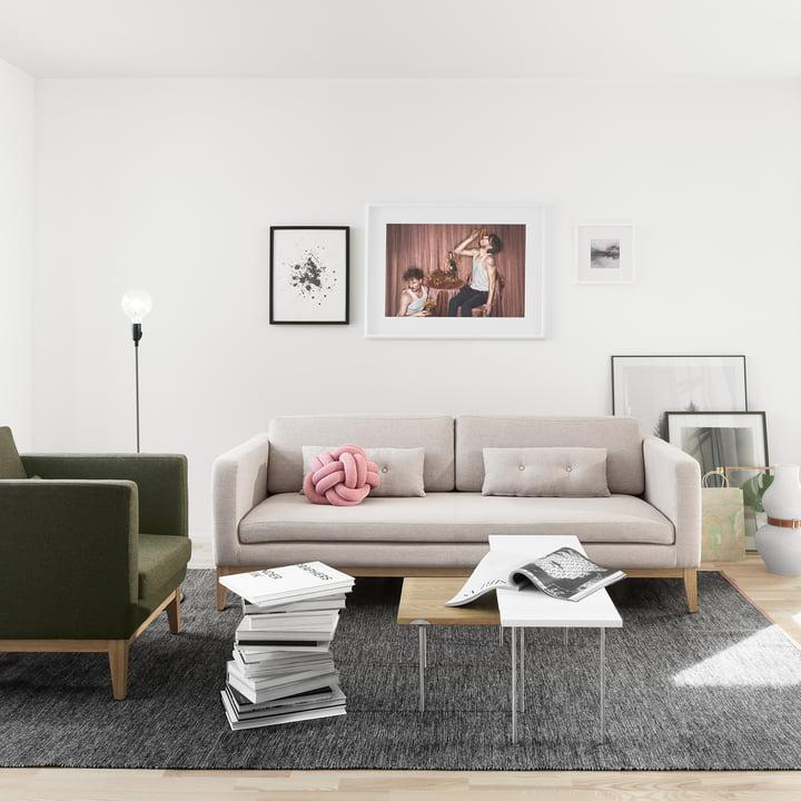 Design House Stockholm - Björk Teppich, dunkelgrau, 170 x 240 cm