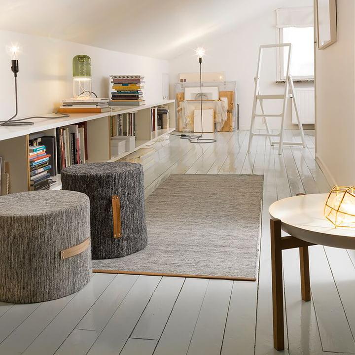 Design House Stockholm - Björk Teppich, hellgrau, 70 x 130 cm