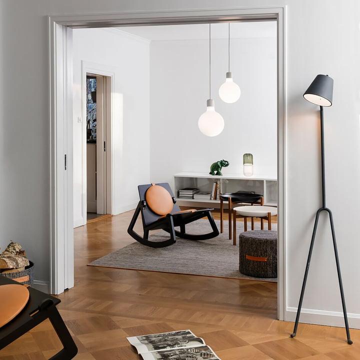 Design House Stockholm - Björk Teppich, hellgrau, 170 x 240 cm