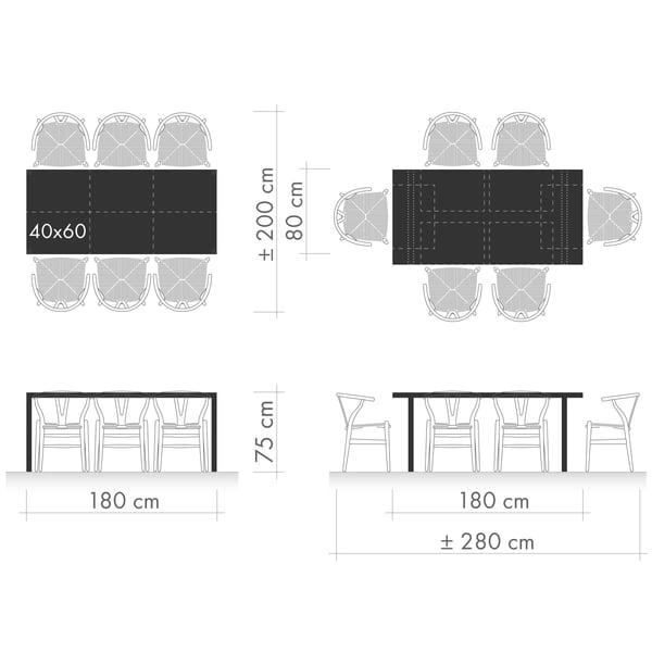 Esstische Grafik 1 - Sitzplatzanordnung