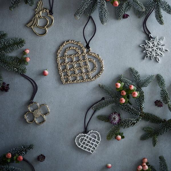 Flechtherz Von Rosendahl Auf Dem Weihnachtstisch