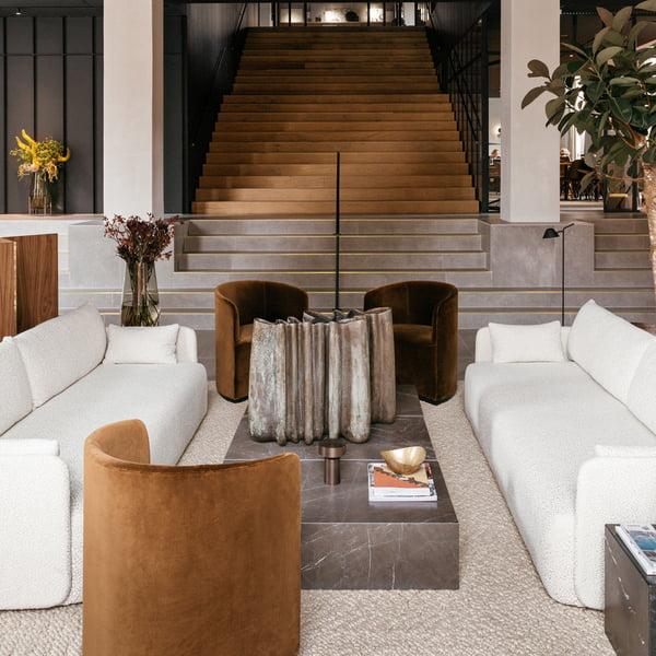 Menu - Offset Sofa 2-Sitzer, beige